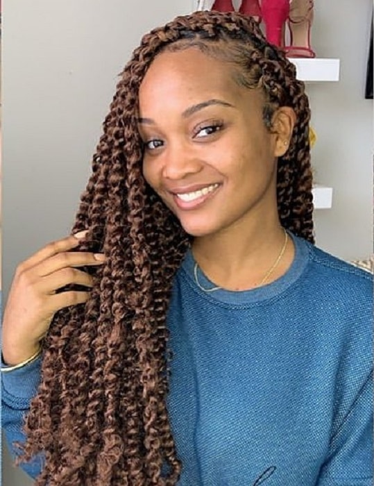 long curly crochet hairstyles for women