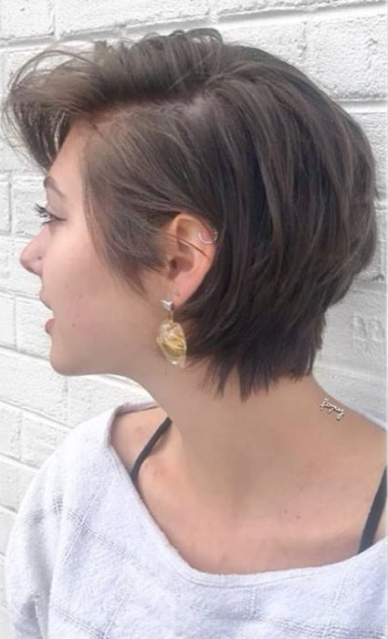 Long Layered Pixie for Thick Hair
