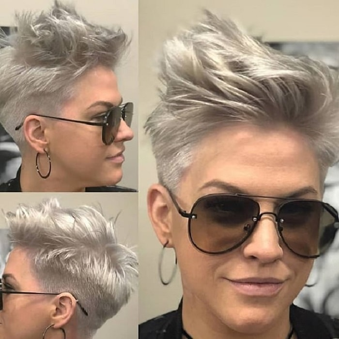 long blonde pixie cut for thick hair