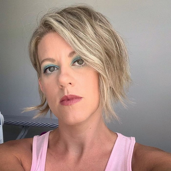 long pixie cut for thick wavy hair