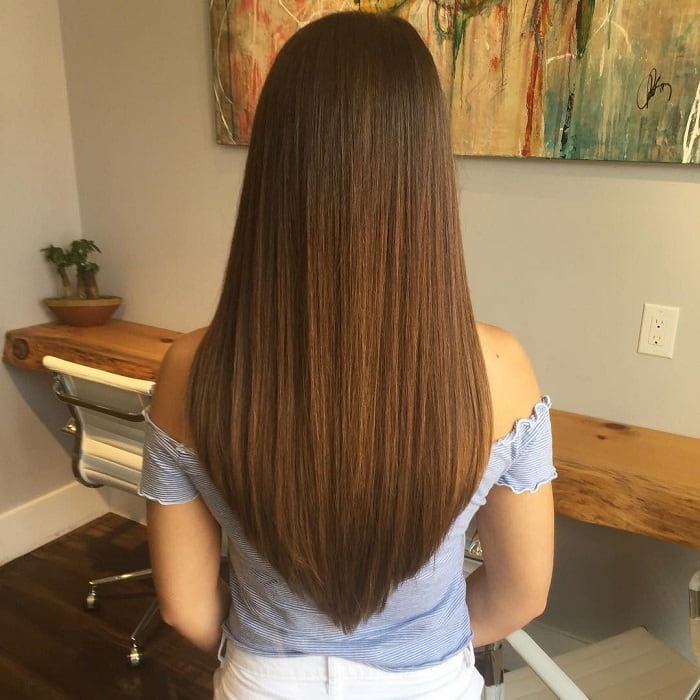 long straight hair with layers