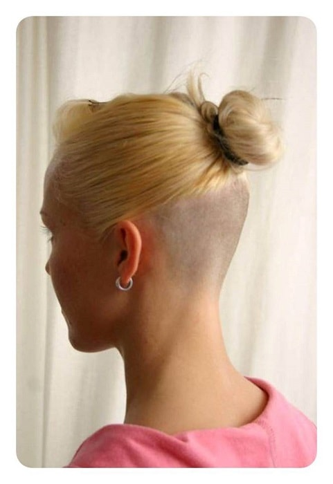 shaved undercut for long haired women