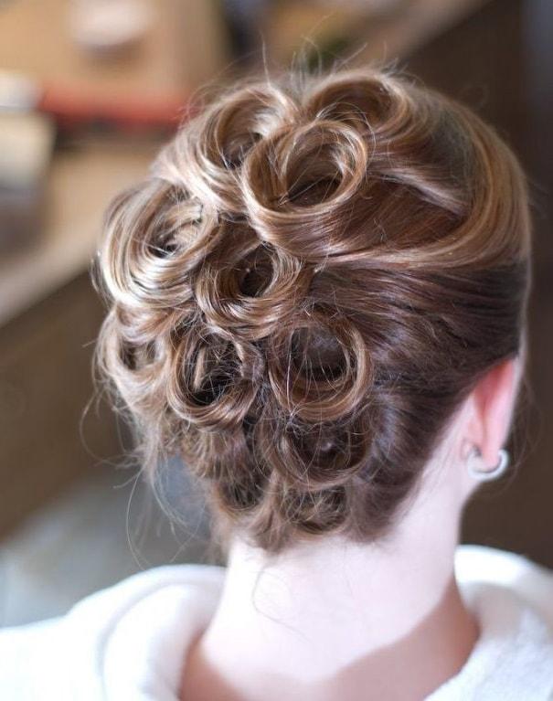 Wedding Pin Curl Updo
