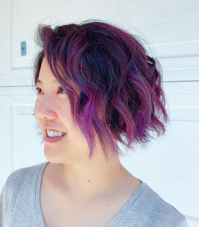 7 Superb Purple Ombre Hairstyle For Short Haired Divas Wetellyouhow