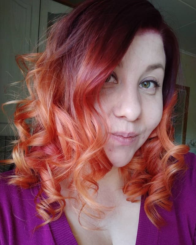 red to blonde ombre hairstyles for women