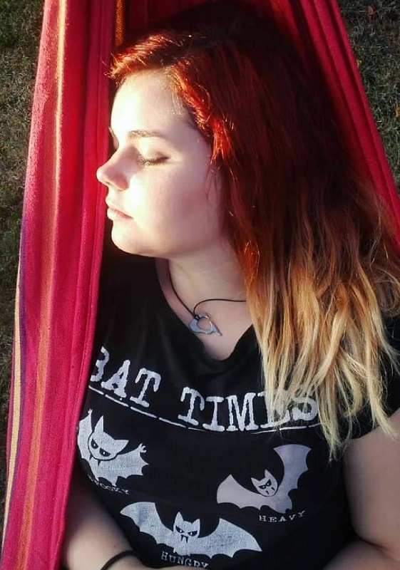 blonde ombre on medium length red hair