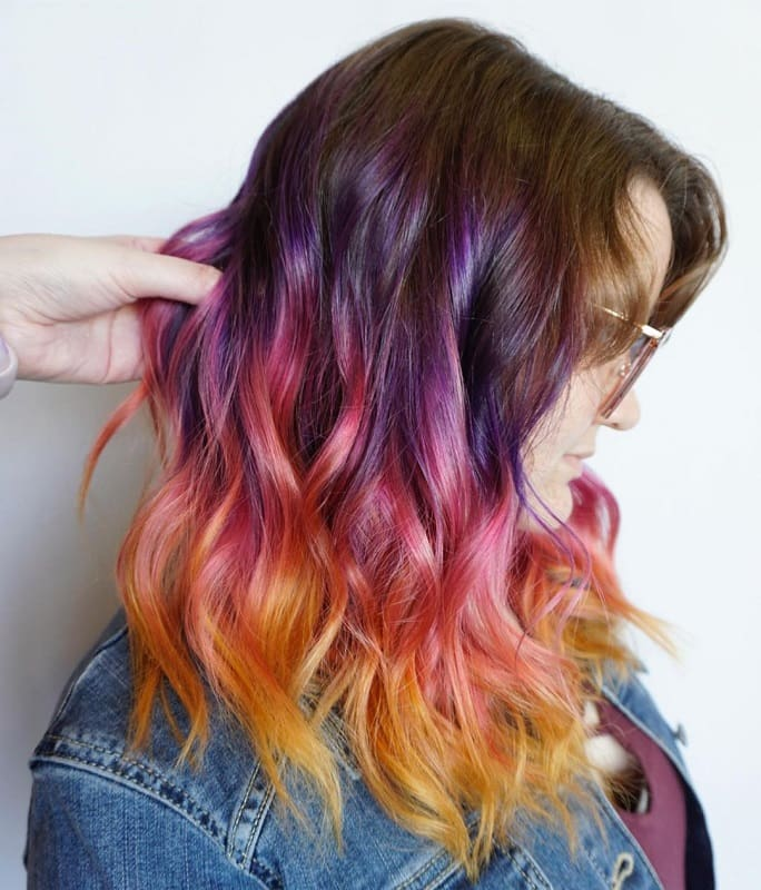 8 Beautiful Sunset Ombre Hairstyles For Ladies Wetellyouhow