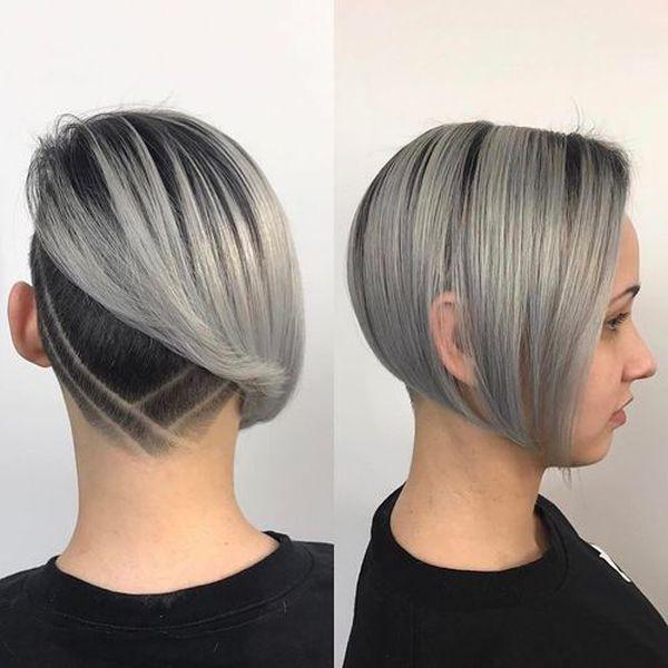asymmetrical undercut bob haircut