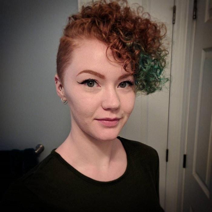 curly undercut bob hair