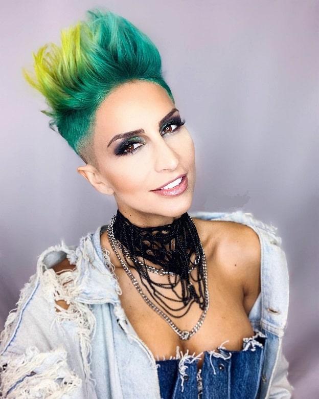 undercut mohawk hairstyles for women