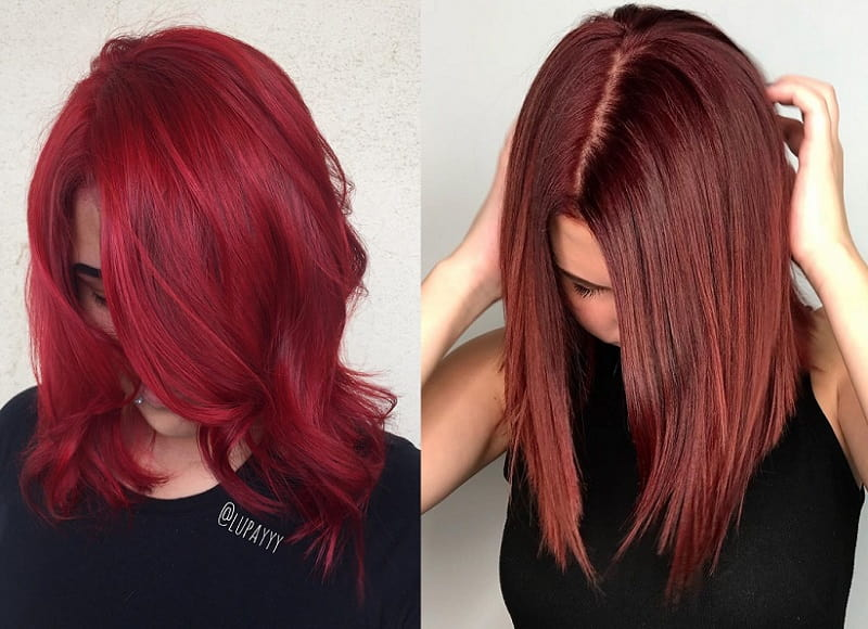 ruby red vs. cherry red