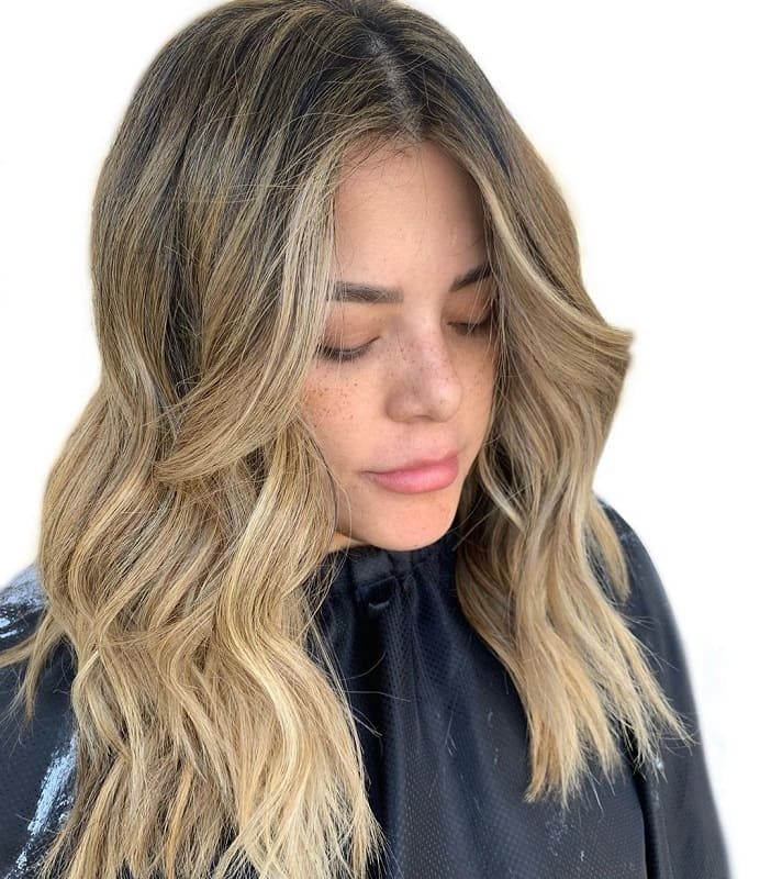 brown hairstyles with blonde highlights